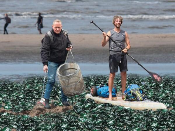 Merijn Tinga en Dirk Groot slaan handen ineen: 'Fabrikant moet stoppen met plastic snoepwikkels'