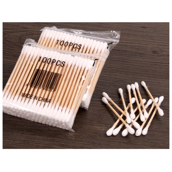 Wooden cotton buds