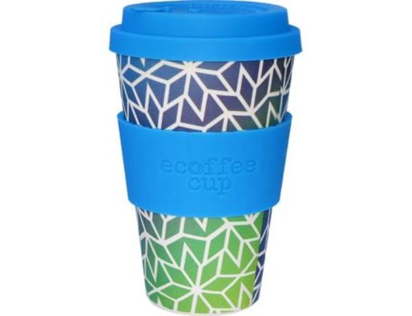 Herbruikbare koffiebeker bamboe – Stargate 400ml €12.95 – vele verschillende kleuren