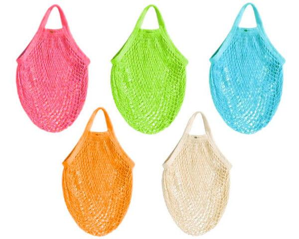 Herbruikbaar boodschappentasje van biokatoen (5 kleuren) € 4.95