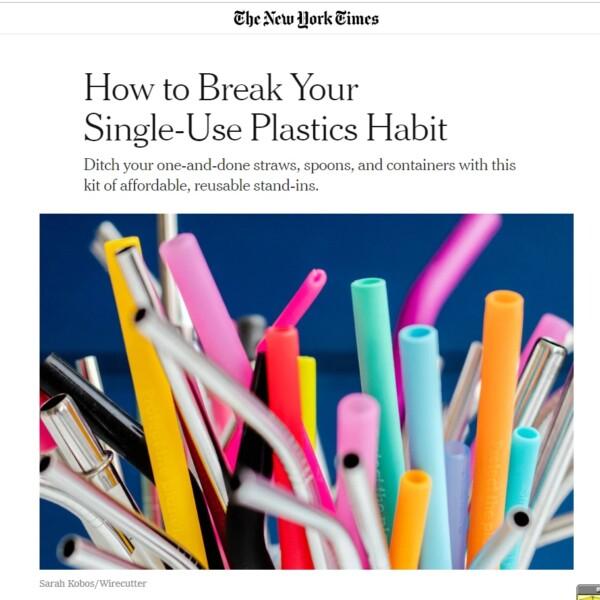 How to Break Your Single-Use Plastics Habit