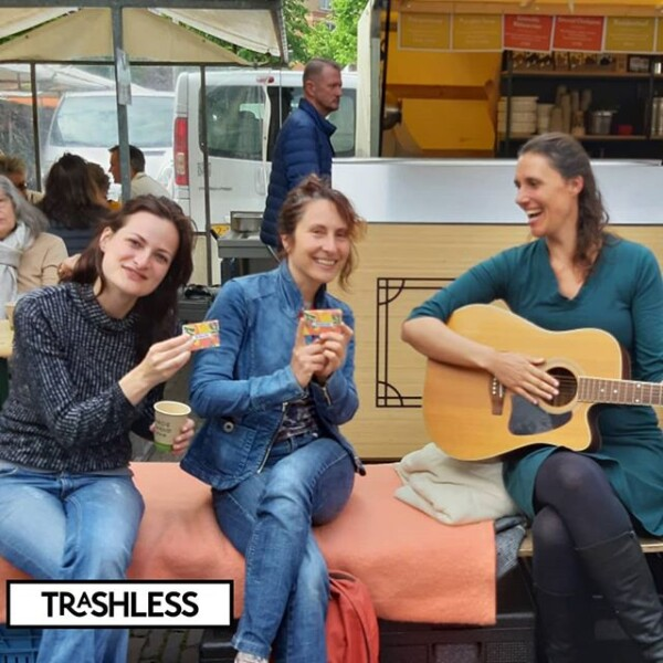 With the #trashlessangels at #noordermar