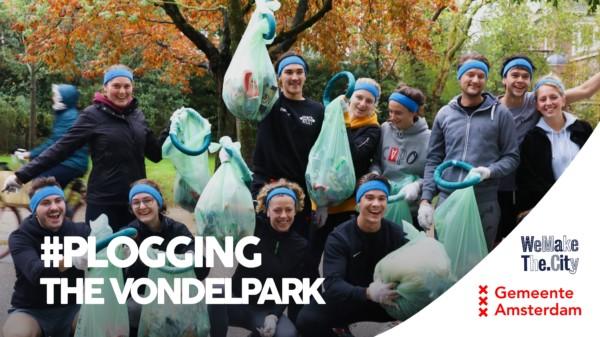 Plogging the Vondelpark Clean! #WeMakeThe.City