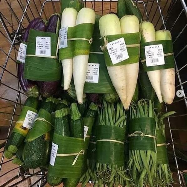 Plastic free vegetables, Ubud, Indonesia