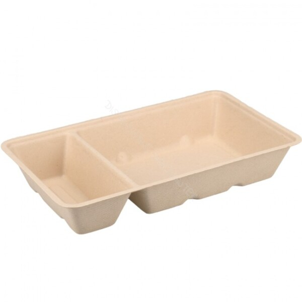 BIO Sugarcane Bagasse Snack Tray A14+1 Zoom